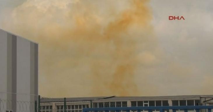Tuzla'da fabrikada kimyasal madde sızıntısı