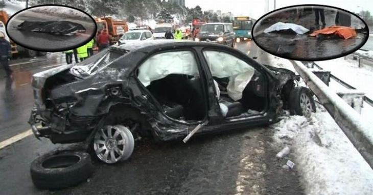 TEM'deki kazada 3 kar küreme görevlisi yaşamını yitirdi