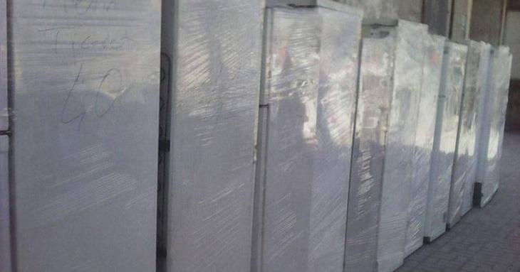 Polis, Cizre'ye gönderilen buzdolaplarına el koydu
