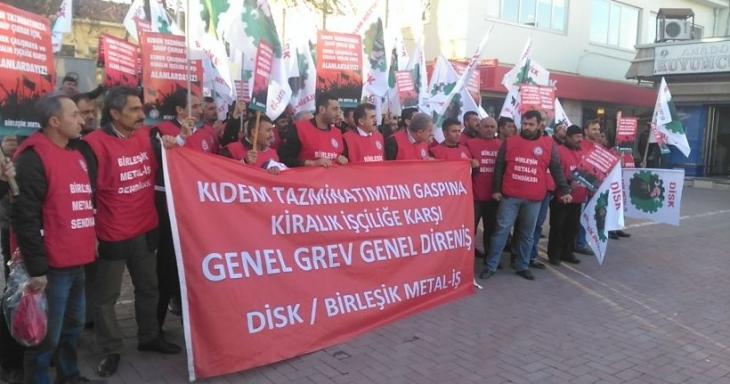 Polisten Kırşehir Cemaş Döküm işçilerine: 'Meydan da yürüyüş de yasak'