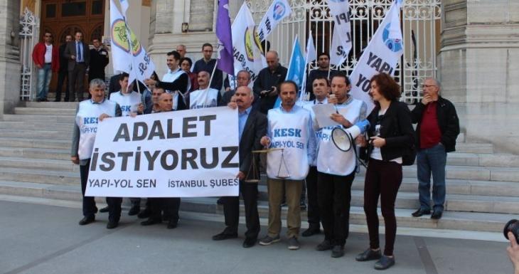 Emekçiler mesai ücretlerindeki adaletsizliği protesto etti