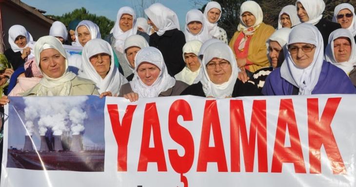 Termik santrale karşı kadınlardan 'Beyaz Çember' hareketi