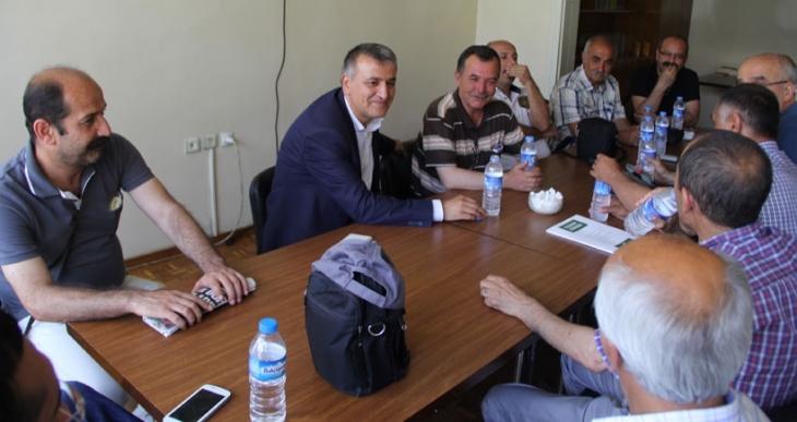 HDP Antep Milletvekili Toğrul, EMEP'i ziyaret etti