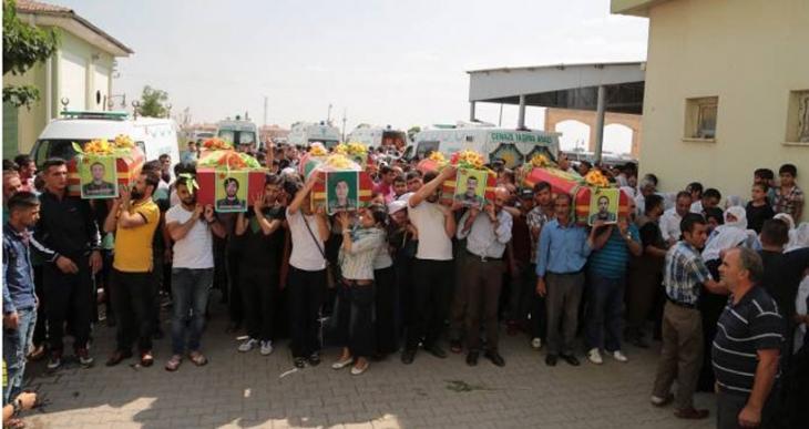12 YPG/YPJ ve 1 YJA-STAR savaşçısının cenazesi Silopi'ye getirildi