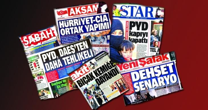 AKP medyası tek ses: PYD, IŞİD'den tehlikeli!
