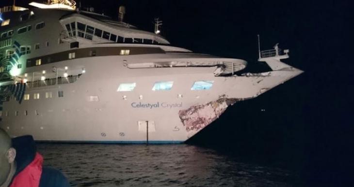 Gelibolu önlerinde yolcu gemisiyle tanker çarpıştı