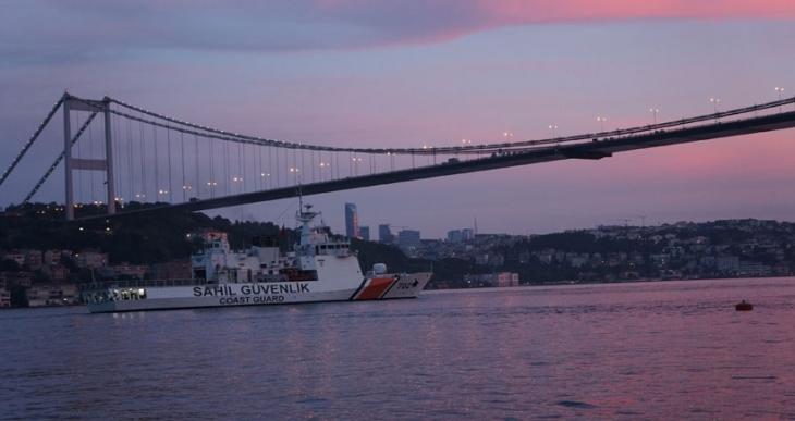 İstanbul Boğazı'nda sürat teknesi battı