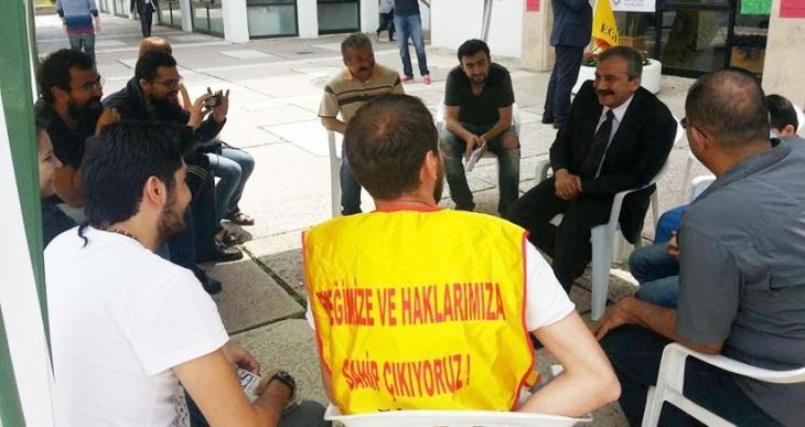 HDP'li Önder'den ODTÜ'de direniş ziyareti