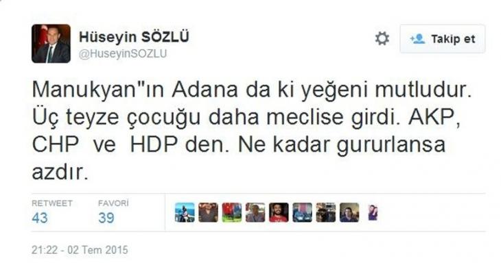 MHP'li Belediye Başkanı'ndan nefret söylemi
