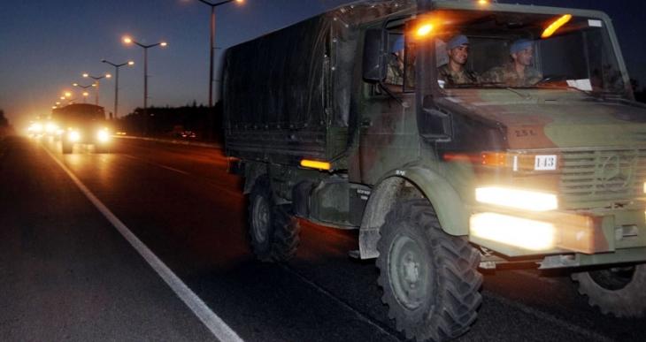 Dersim'den yola çıkan askeri konvoy Antep'e ulaştı