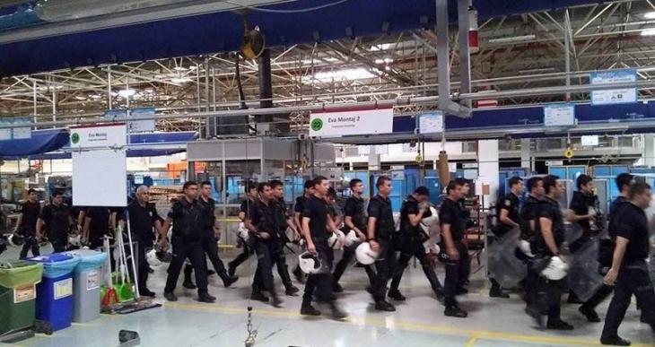 Arçelik LG'de direniş kırıcılara polis koruması