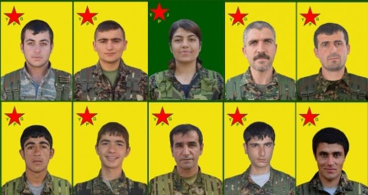 Yaşamını yitiren 10 YPG/J savaşçısının kimlik bilgileri açıklandı
