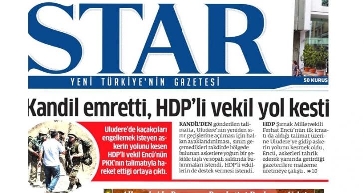 Star gazetesi, Ferhat Encü'yü hedef gösterdi!