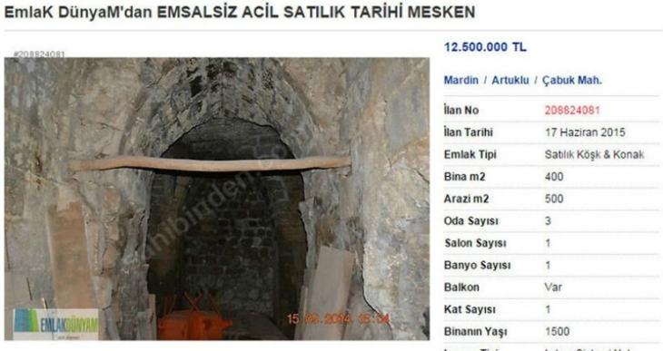 Mardin'de Süryaniler tarihi kilisenin satışa çıkarılmasına tepki gösterdi