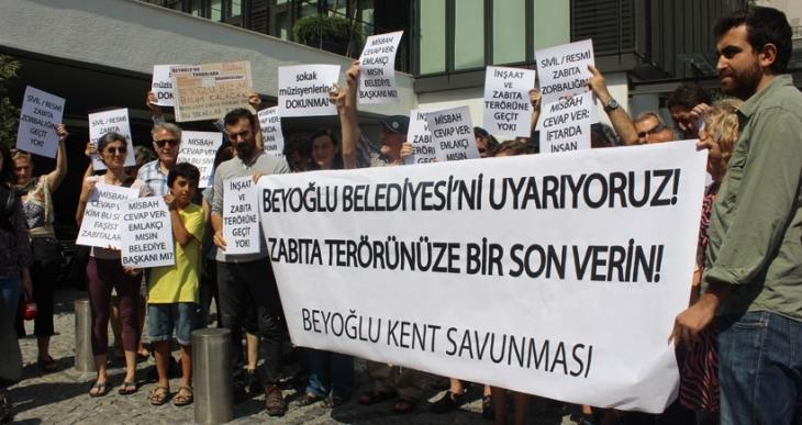 Beyoğlu Kent Savunması zabıta terörünü protesto etti