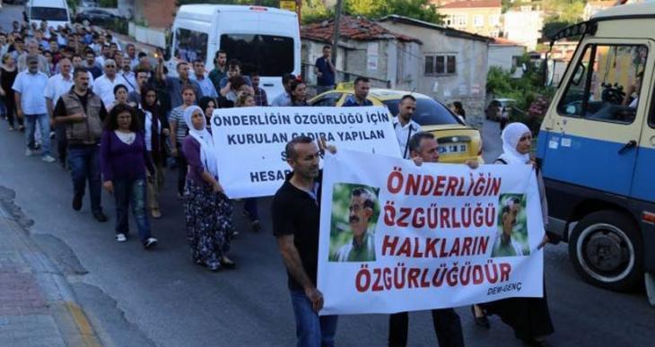 DEM-GENÇ çadır baskınını ve tecridi protesto etti
