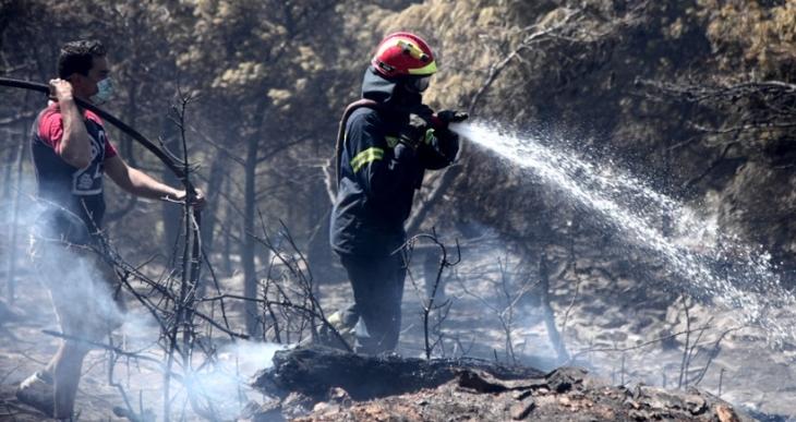 Atina'da orman yangının büyük bir kısmı kontrol altına alındı