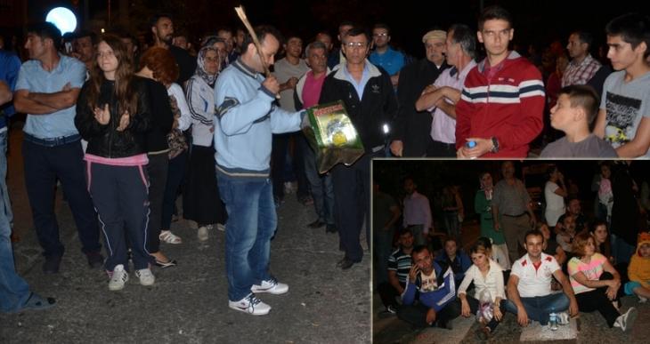 Zonguldak'ta heyelan eylemi: Mahalleli, karayolunu kapattı