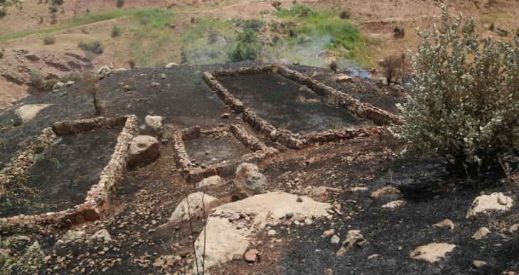 Cudi Dağı'ndaki yangın Asurî köyünü de yaktı