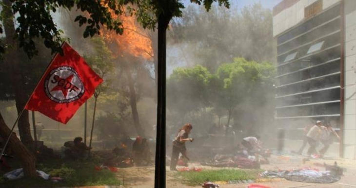 Suruç'taki katliam lanetleniyor