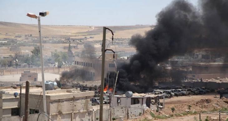 Kobanê'de şiddetli patlama