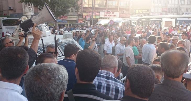 Elazığ'da polis engeli