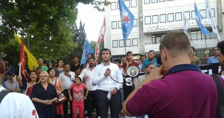 Tekirdağ'da katliam protesto edildi