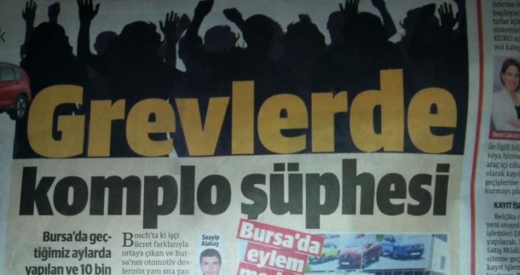 Yeni Şafak grevlere de 'komplo' dedi