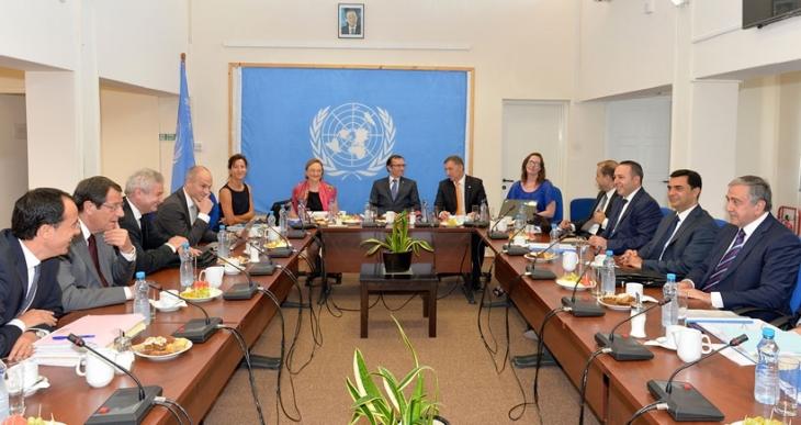 Kıbrıslı liderler yeniden bir araya geldi