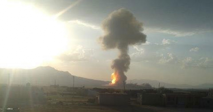 Ağrı'da doğalgaz boru hattı ateşe verildi
