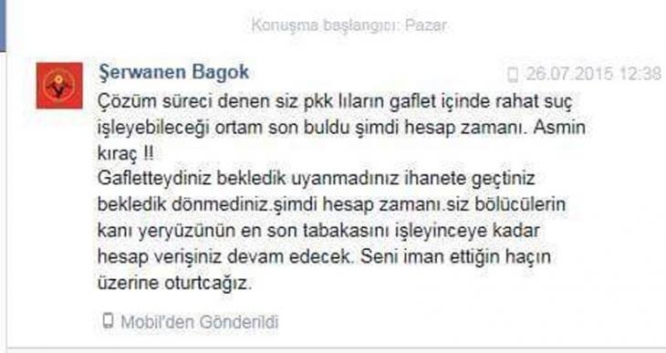 HDP'nin Ermeni Şırnak İl Eş Başkanına facebook'tan ölüm tehdidi!