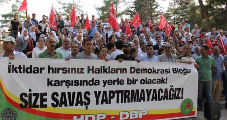 Mardin halkı operasyonlara karşı üç koldan yürüdü