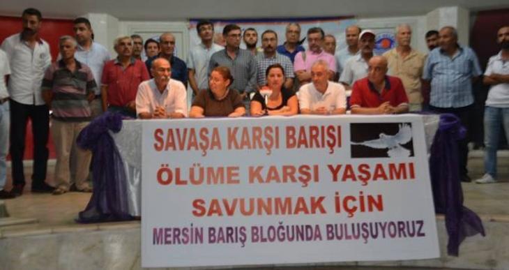 Mersin'de Barış Bloku kurulması çağrısı