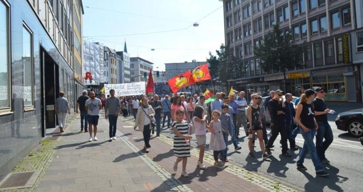 Bielefeldliler Türkiye'deki katliamları protesto etti
