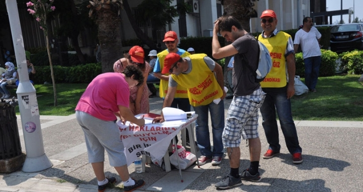 SF işçilerinden İzmirlilere çağrı