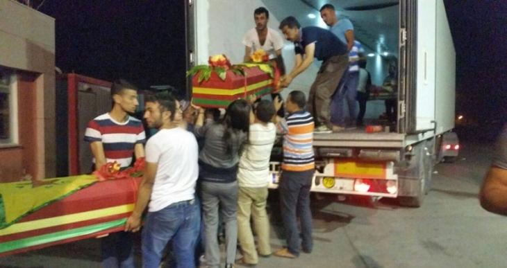 13 HPG, YPG/YPJ savaşçısının cenazesi memleketlerine uğurlanıyor