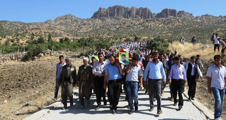 YPG'li Çapan'ın cenazesi 10 gün sonra Cudi'ye defnedildi