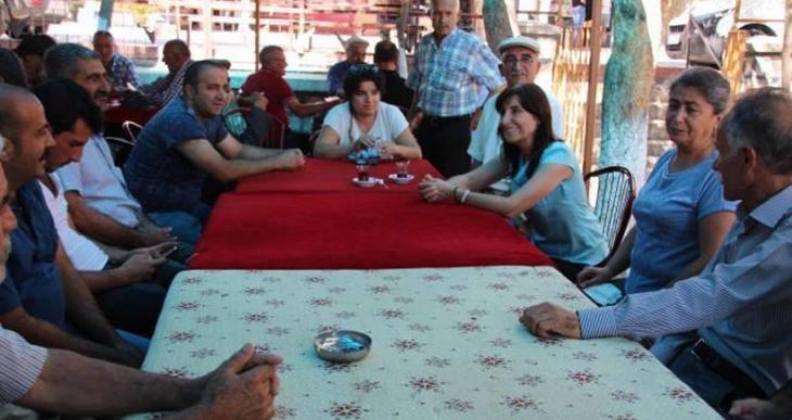HDP vekilleri Dersim'de boşaltılmak istenen köyleri ziyaret etti