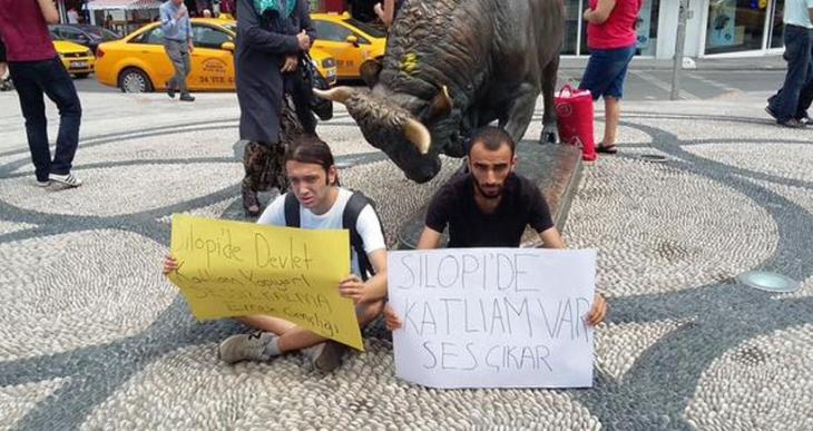 Silopi için oturma eylemi yapan Emek Gençliği üyeleri gözaltına alındı