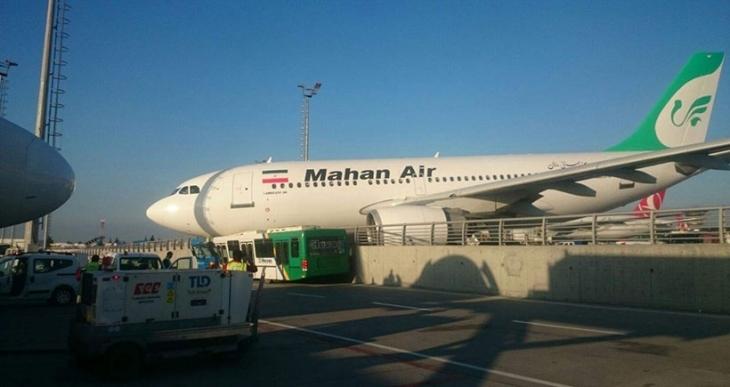 İran uçağı duramayınca korkuluklara çıktı