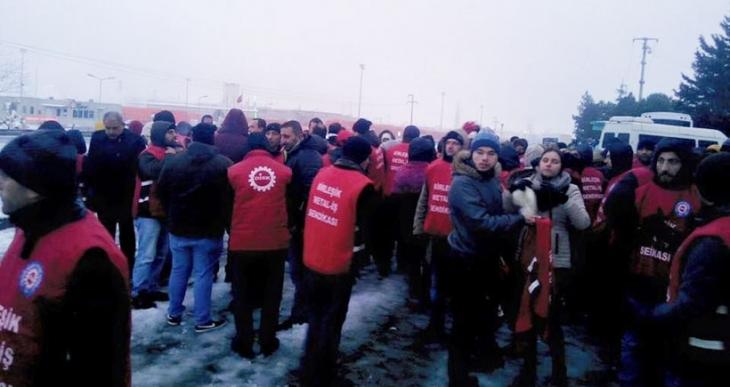 EGO'da direnişi bitti  7 işçi daha işten atıldı