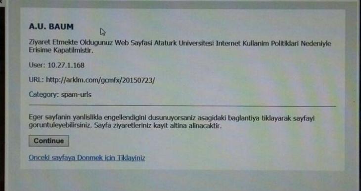 Atatürk Üniversitesi, evrensel.net'e erişimi engelledi