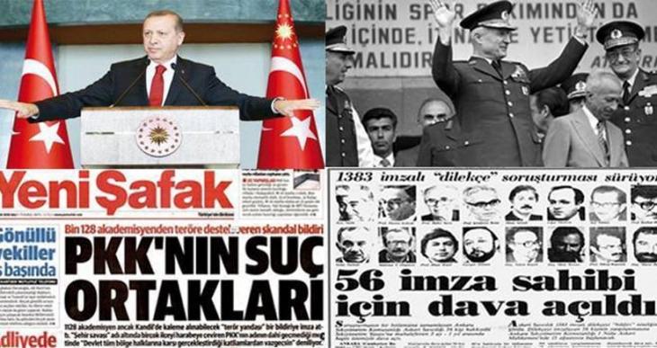 Evren için 'hain', Erdoğan için 'karanlık' aydınlar