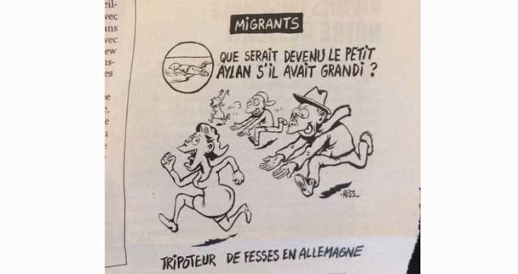 Charlie Hebdo'dan tepki çeken Aylan Kurdi karikatürü