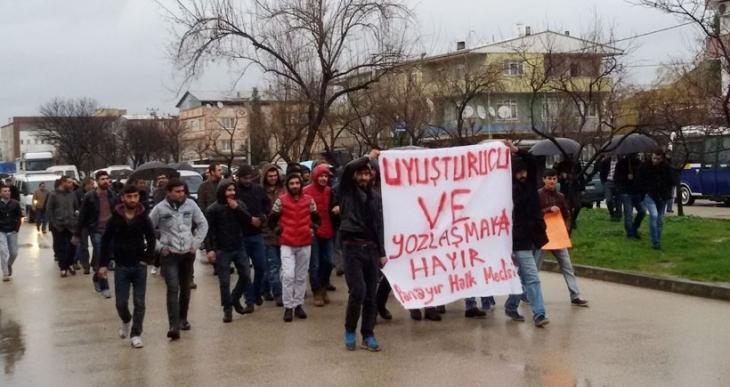 Bursa Panayır'da uyuşturucu karışıtı eylem
