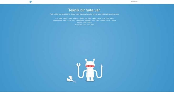 Twitter çöktü, siteye erişilemedi