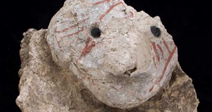 Çatalhöyük'te ilk kez, gözlerine obsidyen pul yerleştirilmiş baş bulundu