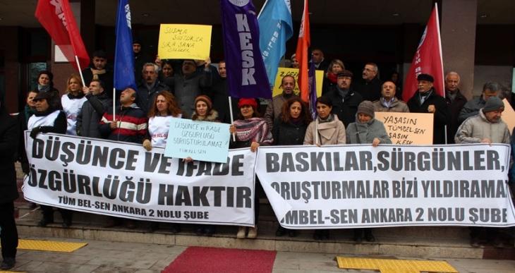 Mamak Belediyesi'ndeki sürgün protesto edildi