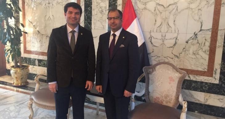 HDP'li vekil  Mehmet Ali Aslan Irak Meclis Başkanıyla görüştü