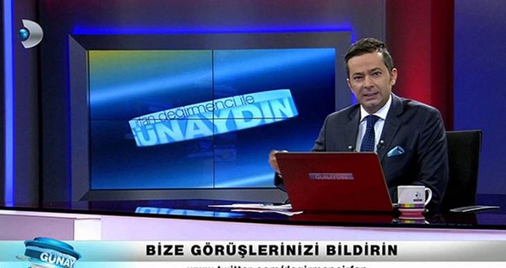 Kanal D'ye 'fonda pankart göründü' davası